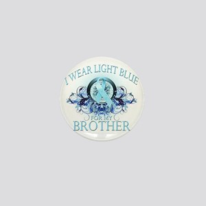 I Wear Light Blue for my Brother (flor Mini Button