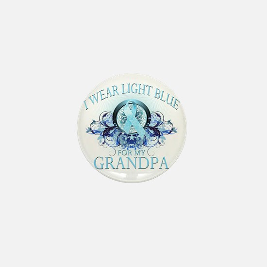 I Wear Light Blue for my Grandpa (flor Mini Button