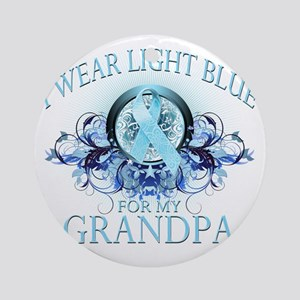I Wear Light Blue for my Grandpa (f Round Ornament