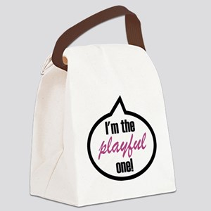 Im_the_playful Canvas Lunch Bag