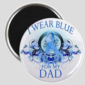 I Wear Blue for my Dad (floral) Magnet