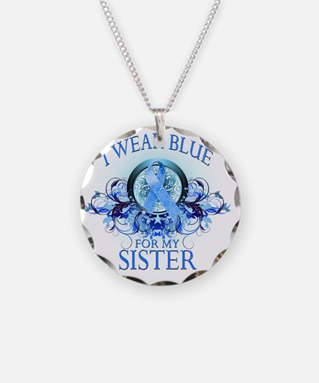 I Wear Blue for my Sister (f Necklace