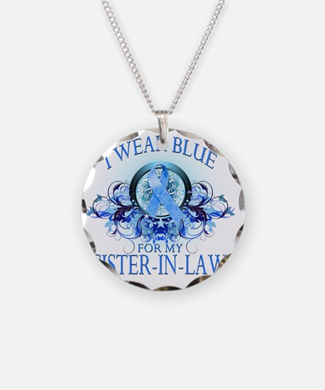 I Wear Blue for my Sister In Necklace
