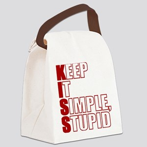 KISS: Keep It Simple, Stupid Canvas Lunch Bag