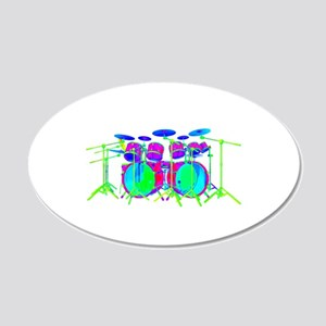 Colorful Drum Kit Wall Decal
