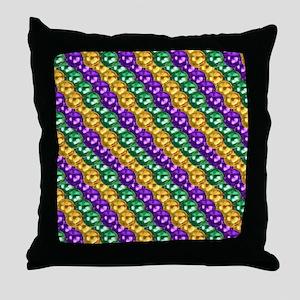 MGbeadsPatnMp Throw Pillow