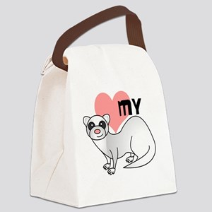 Silver Ferret Canvas Lunch Bag