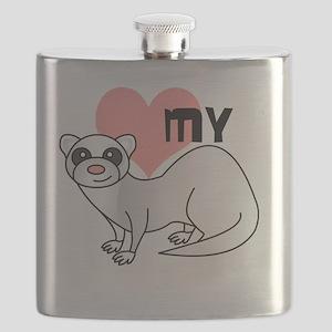 Silver Ferret Flask