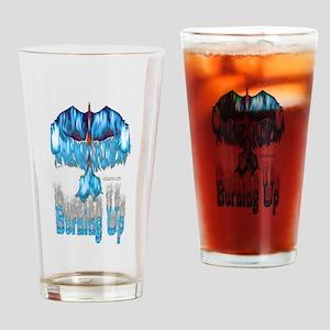 Phoenix Burning Up Drinking Glass