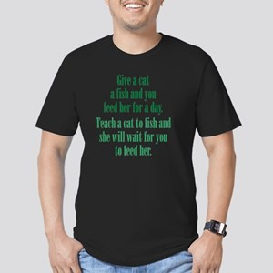 catF_rnd3 Men's Fitted T-Shirt (dark)