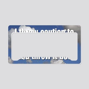 caution_rect2 License Plate Holder