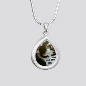 YouCouldOpenIt Silver Teardrop Necklace