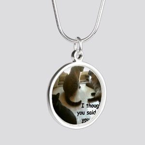 YouCouldOpenIt Silver Round Necklace