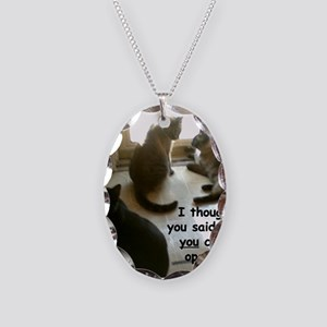 YouCouldOpenIt Necklace Oval Charm