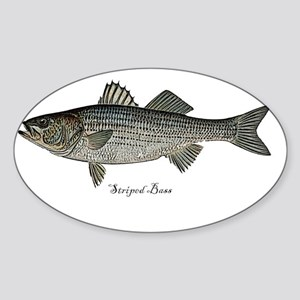 Bass- Striped Sticker (Oval)