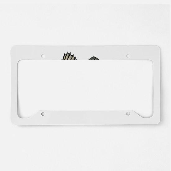 Bass- Striped License Plate Holder