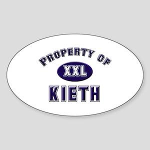 Property of kieth Oval Sticker