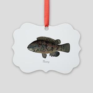 Tautog Picture Ornament