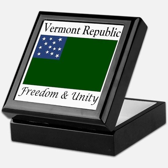 Vermont Republic Freedom & Unity Keepsake Box