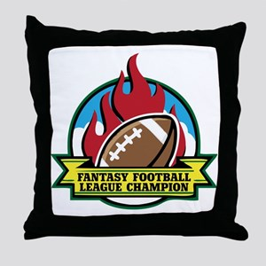FOOTBALL-V3-crop Throw Pillow