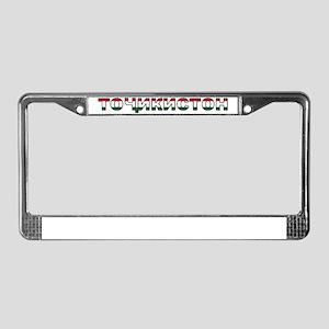 tajikistan License Plate Frame