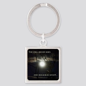 Full Moon Card Square Keychain