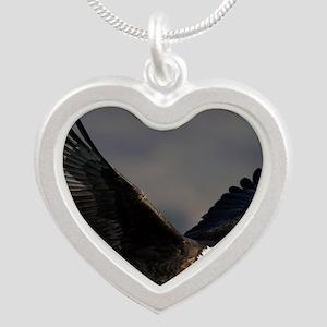 x14W  highfly Silver Heart Necklace