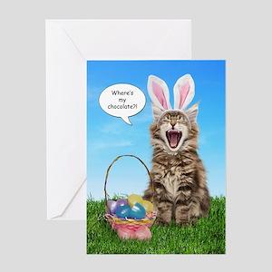 easterkitten_baby_toddler_kids Greeting Card