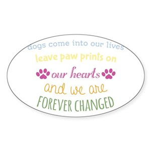 Dogs Leave Pawprints Our Lives Gifts Cafepress