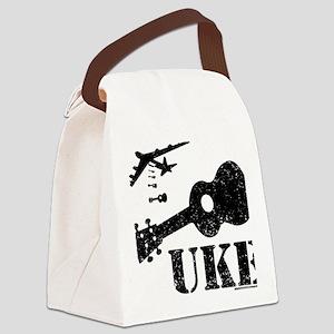 Ukulele N Uke Canvas Lunch Bag