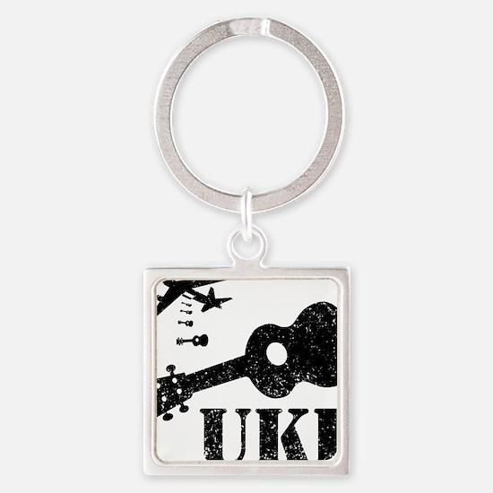 Ukulele N Uke Square Keychain