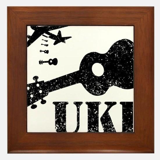 Ukulele N Uke Framed Tile