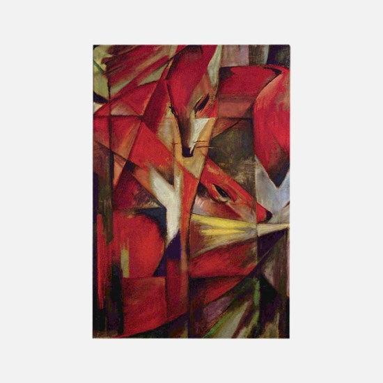 Franz Marc - Foxes Rectangle Magnet