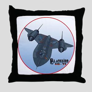 Blackbird-C10trans Throw Pillow