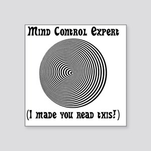 "Mind Control Black Square Sticker 3"" x 3"""