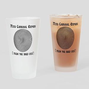 Mind Control Black Drinking Glass
