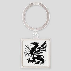 BlackGriffon Square Keychain
