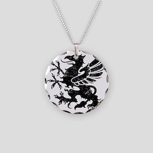 BlackGriffon Necklace Circle Charm