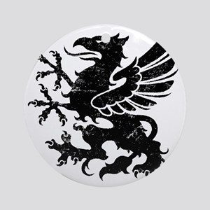 BlackGriffon Round Ornament