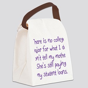 College Major Canvas Lunch Bag