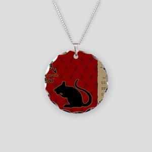 czodiac-01-rat Necklace Circle Charm