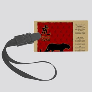 czodiac-03-tiger Large Luggage Tag