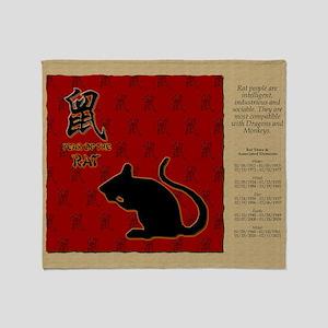 czodiac-01-rat Throw Blanket