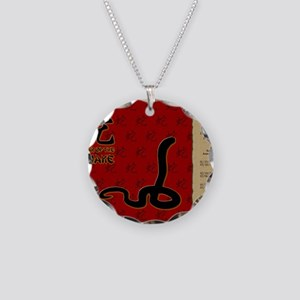 czodiac-06-snake Necklace Circle Charm