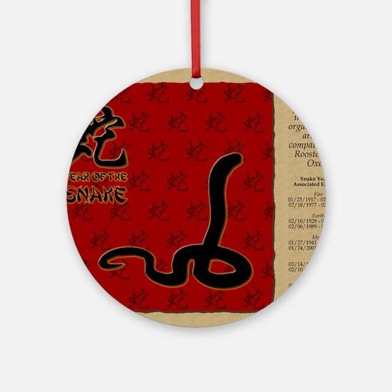 czodiac-06-snake Round Ornament