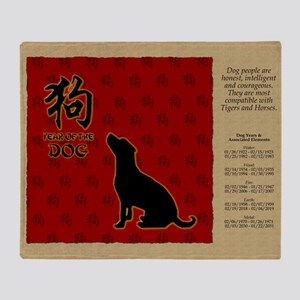 czodiac-11-dog Throw Blanket