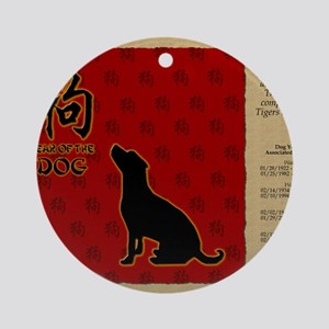 czodiac-11-dog Round Ornament