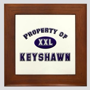 Property of keyshawn Framed Tile