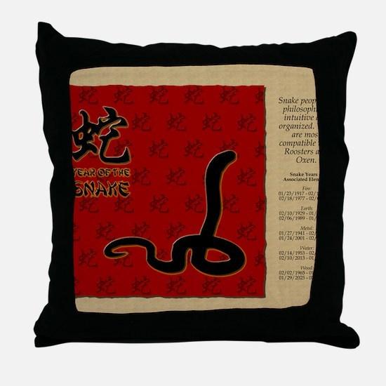 czodiac-06-snake Throw Pillow