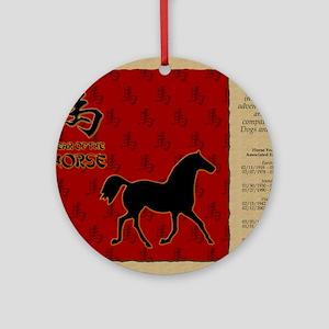 czodiac-07-horse Round Ornament